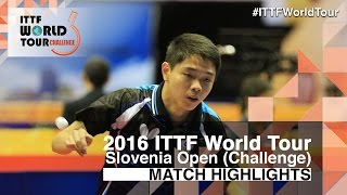 【Video】SUN Chia-Hung VS KALUZNY Samuel 2016 Slovenia Open