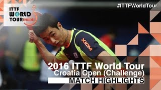 【Video】JOO Saehyuk VS JEOUNG Youngsik, 2016 Zagreb  Open  finals