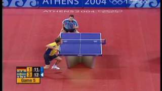 【Video】BOLL Timo VS WALDNER Jan-Ove, 2004 Olympic Games quarter finals