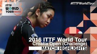 【Video】MIU Hirano VS HITOMI Sato, 2016 Zagreb  Open  finals