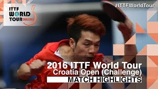 【Video】JOO Saehyuk VS HO Kwan Kit, 2016 Zagreb  Open  semifinal