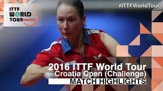 【Video】MIKHAILOVA Polina VS MIU Hirano, 2016 Zagreb  Open  semifinal