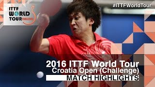 【Video】JEOUNG Youngsik VS MENGEL Steffen, 2016 Zagreb  Open  quarter finals