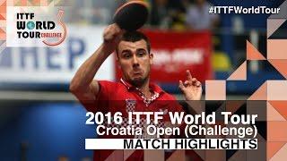 【Video】GROTH Jonathan VS PUCAR Tomislav, 2016 Zagreb  Open  best 32