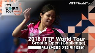 【Video】LIN Chia-Hsuan VS AI Fukuhara, 2016 Zagreb  Open  best 64