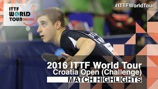 【Video】LORENTZ Romain VS GACEV Aleksa 2016 Zagreb  Open