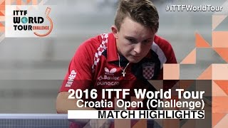 【Video】HUANG Chien-Tu VS PETROVIC Martin 2016 Zagreb  Open