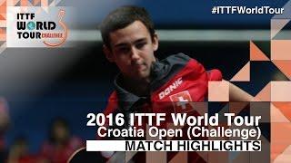 【Video】WEBER Lionel VS VIDACEK Marko 2016 Zagreb  Open