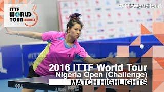 【Video】SHAO Jieni VS PERGEL Szandra, 2016 Premier Lotto Nigeria Open  finals