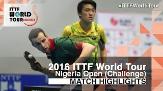 【Video】BUKIN Andrey・FILATOV Vasilij VS CARVALHO Diogo・CHEN Diogo, 2016 Premier Lotto Nigeria Open  finals