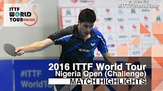 【Video】OLAH Benedek VS TORIOLA Segun, 2016 Premier Lotto Nigeria Open  semifinal