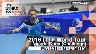 【Video】CHEN Diogo VS MAGDY Shady, 2016 Premier Lotto Nigeria Open  finals