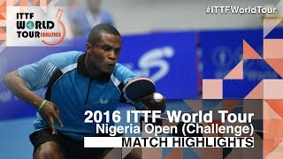 【Video】ZHAO Tianming VS ONAOLAPO Ojo, 2016 Premier Lotto Nigeria Open  best 32