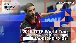 【Video】LASHIN El-Sayed VS ADEOSUN Adekunle, 2016 Premier Lotto Nigeria Open  best 32