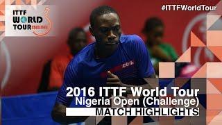 【Video】URIBE Salvador VS HASSAN Nurudeen, 2016 Premier Lotto Nigeria Open  best 32