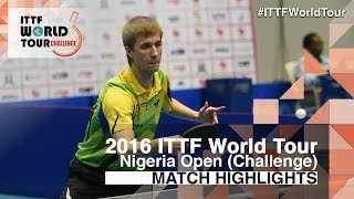 【Video】AYODELE Sunday VS BUKIN Andrey 2016 Premier Lotto Nigeria Open