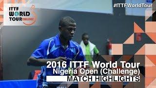 【Video】OSEDUNKWU Joseph VS BABAFEMI Babatunde 2016 Premier Lotto Nigeria Open