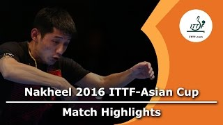 【Video】ZHANG Jike VS WONG Chun Ting, 2016 ITTF Nakheel Asian Cup semifinal