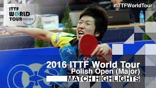 【Video】JUN Mizutani VS TAKU Takakiwa, 2016 Polish Open  quarter finals