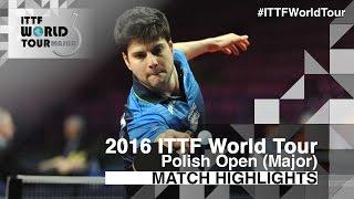 【Video】JANCARIK Lubomir VS OVTCHAROV Dimitrij, 2016 Polish Open  best 16