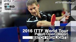 【Video】STEGER Bastian VS HO Kwan Kit, 2016 Polish Open  best 32