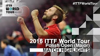 【Video】PERSSON Jon VS BAI He, 2016 Polish Open  best 32