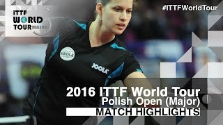 【Video】SOLJA Petrissa VS KOMWONG Nanthana, 2016 Polish Open  best 32