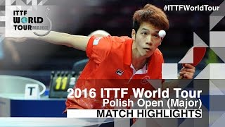【Video】ROBINOT Alexandre VS HO Kwan Kit, 2016 Polish Open  quarter finals