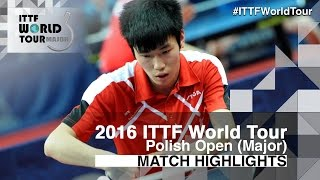 【Video】WANG Zhixu VS LI Hon Ming 2016 Polish Open