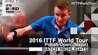 【Video】BAI He VS ROBINOT Alexandre 2016 Polish Open