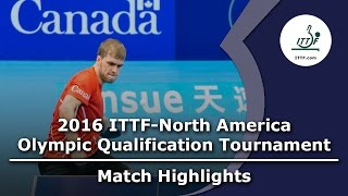 【Video】WANG Eugene VS THERIAULT Pierre-Luc, 2016 ITTF-North America Olympic Qualification Tournament finals