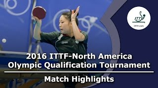 【Video】ZHANG Lily VS ZHENG Jiaqi, 2016 ITTF-North America Olympic Qualification Tournament finals
