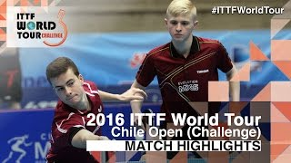 【Video】HACHARD Antoine・RUIZ Romain VS ALTO Gaston・TABACHNIK Pablo, 2016 Chile Open  finals