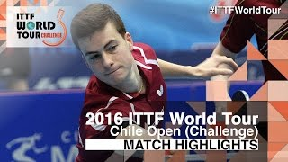【Video】HACHARD Antoine VS GOMEZ Gustavo, 2016 Chile Open  semifinal