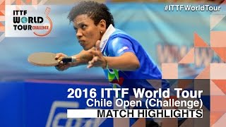 【Video】CASTILLO Lisi VS LORENZOTTI Maria, 2016 Chile Open  semifinal