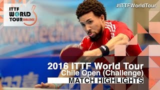 【Video】HACHARD Antoine VS PEREIRA Andy, 2016 Chile Open  quarter finals