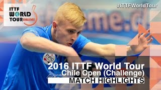【Video】DUDA Benedikt VS RUIZ Romain, 2016 Chile Open  quarter finals