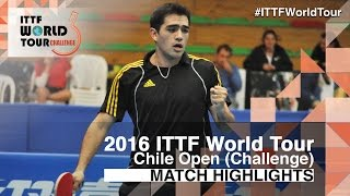 【Video】ALTO Gaston VS RODRIGUEZ Alejandro, 2016 Chile Open  quarter finals