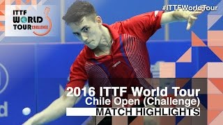 【Video】SCHREINER Florian VS TABACHNIK Pablo, 2016 Chile Open  best 16