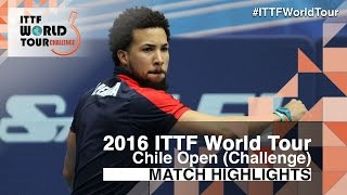 【Video】SANCHI Francisco VS PEREIRA Andy, 2016 Chile Open  best 16