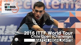 【Video】ALTO Gaston VS MOYA Manuel, 2016 Chile Open  best 16