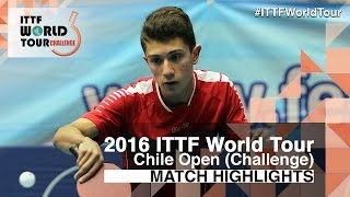 【Video】SCHREINER Florian VS TOLOSA Santiago, 2016 Chile Open  quarter finals