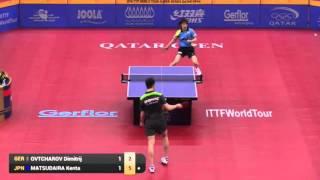 【Video】MATSUDAIRA Kenta VS OVTCHAROV Dimitrij, 2016 Qatar Open  best 32