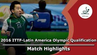 【Video】TSUBOI Gustavo VS AGUIRRE Marcelo, 2016 ITTF-Latin America Olympic Qualification Tournament finals
