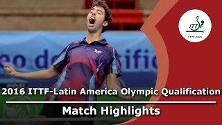【Video】MADRID Marcos VS TSUBOI Gustavo, 2016 ITTF-Latin America Olympic Qualification Tournament semifinal