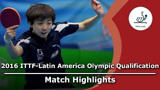 【Video】ARVELO Gremlis VS GUI Lin, 2016 ITTF-Latin America Olympic Qualification Tournament semifinal
