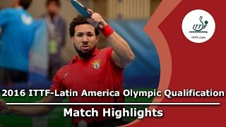 【Video】PEREIRA Andy VS GOMEZ Gustavo, 2016 ITTF-Latin America Olympic Qualification Tournament semifinal