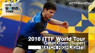 【Video】MA Long VS OVTCHAROV Dimitrij, 2016 Qatar Open  semifinal