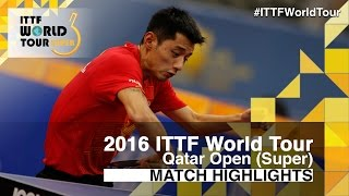 【Video】ZHANG Jike VS OVTCHAROV Dimitrij, 2016 Qatar Open  quarter finals