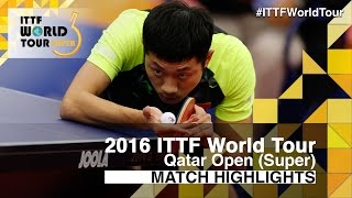 【Video】XU Xin VS JUN Mizutani, 2016 Qatar Open  quarter finals